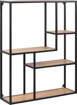 Lisomme Vic Wandkast - Industrieel -  3 planken - B75 x H91 x D20 cm - Eikenhout
