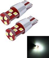 2 STKS T10 2.5 W 200 LM 6000 K 9 SMD-3030 LED Auto Klaring Lichten Lamp, DC 12 V (Wit Licht)