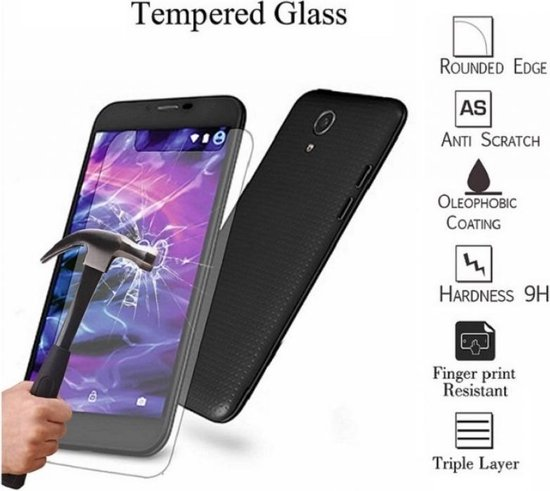 Tempered Glass Protector | Universeel 5 inch | Transparant 0.26mm