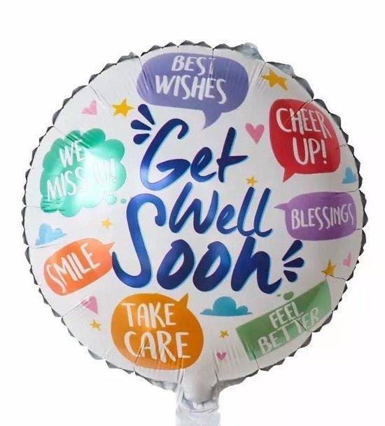 Beterschaps Ballon, get well soon, 40cm kindercrea