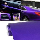 1.52 * 0.5 m Waterdichte PVC Draadtrekken Geborsteld Chrome Vinyl Wrap Auto Sticker Automobiel Ice Film Stickers Auto Styling Matte Geborsteld Auto Wrap Vinyl Film (Paars)