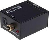 Digitale optische coax naar analoge RCA Audio Converter (zwart)