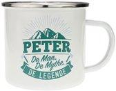 Mok - Top vent - Peter - Geëmailleerd - In cadeauverpakking
