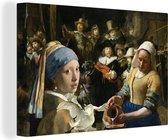 Canvas Schilderijen - Schilderij - Oude Meesters - Zwaan - 60x40 cm - Wanddecoratie