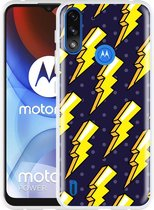 Motorola Moto E7i Power Hoesje Pop Art Lightning