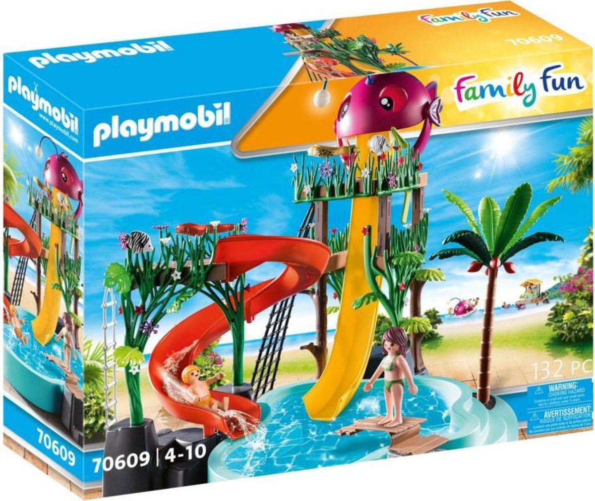PLAYMOBIL Family Fun Waterpark met glijbanen - 70609