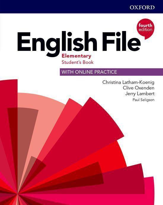 Boek cover English File - Elem (fourth edition) Students book + online van Christina Latham-Koenig (Paperback)