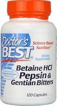 Doctors Best Betaine HCl Pepsin & Gentian Bitters - 120 capsules