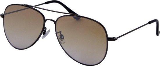 Az-eyewear Zonnebril Trend Unisex Cat. 1 Zwart/bruin (3120-c)