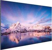 Bergen bij meer Aluminium 90x60 cm - Foto print op Aluminium (metaal wanddecoratie)