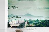 Uitzicht vanaf een berg van Carthago over de stad Tunesië fotobehang vinyl 420x280 cm - Foto print op behang