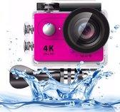 H9 4K Ultra HD1080P 12MP 2 inch LCD scherm WiFi Sport Camera  170 graden brede hoeklens  30m Waterdicht(roze)