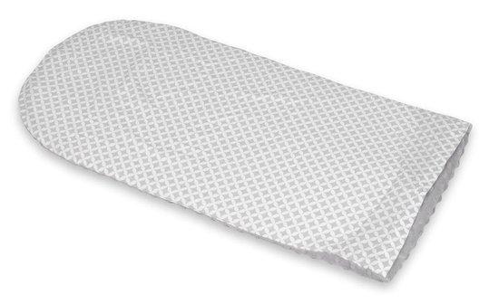 Babynest 80x55 cm | Grijze diamanten op wit en grijs