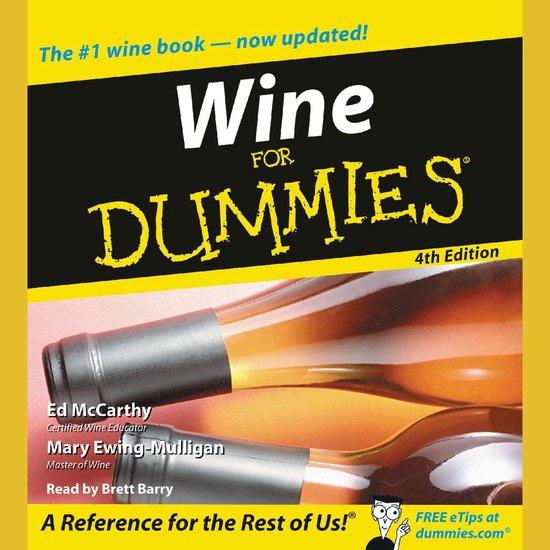 Boek cover Wine for Dummies 4th Edition van Ed Mccarthy (Onbekend)