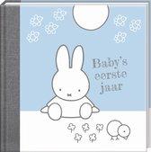 Boek cover Nijntje Babys 1e jaar blauw herziene editie van
