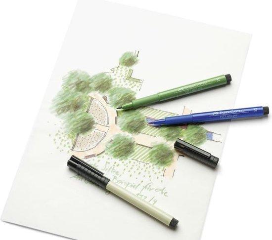 Tekenstift Faber Castell Pitt Artist Pen kleur 199 zwart 8 stuks - Faber-Castell
