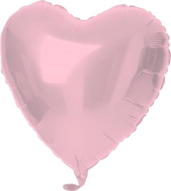 18in/45cm Heart Matt Pastel Pink
