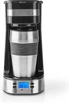 Nedis 1-Kops Koffiezetapparaat   Dubbelwandige Reisbeker   0,42 L   Timer