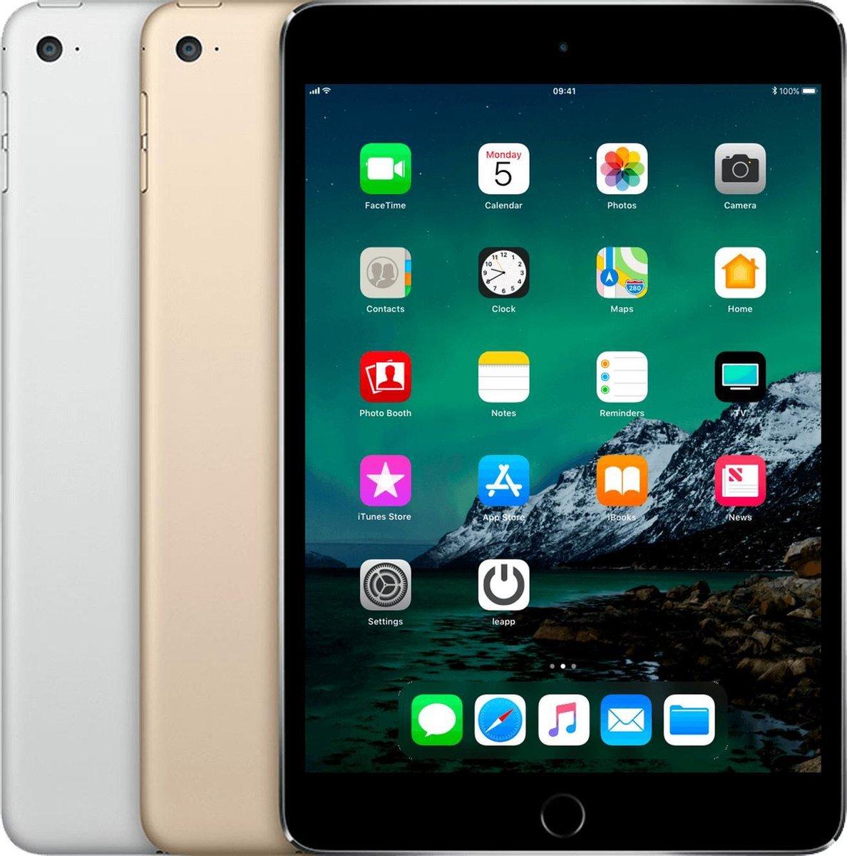 Apple iPad Mini 4   – 7.9 inch – WiFi – 64 GB – Spacegrijs – Refurbished door Leapp – A Grade (zo goed als nieuw)