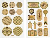 Creotime Stickers Cirkels En Tassenlabels 4 Vellen 16 X 10 Cm