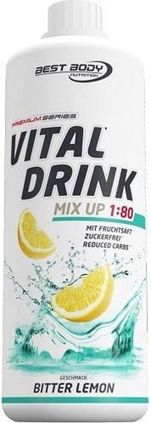 Low Carb Vital Drink 1000ml Bitter Lemon