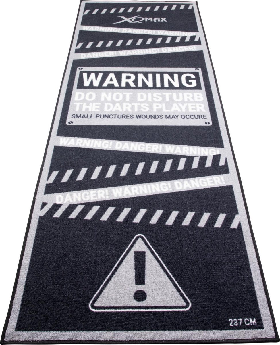 XQ Max Carpet Dartmat Warning