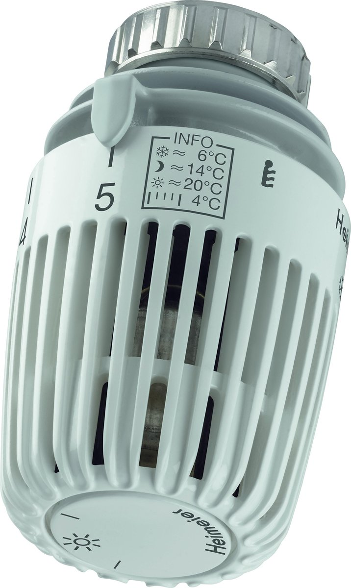 Heimeier thermostaatkop K M30x1.5 met energielabel A (Tell) met ingebouwde voeler standaard