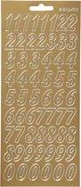 Stickers. goud. cijfers. 10x23 cm. 1 vel
