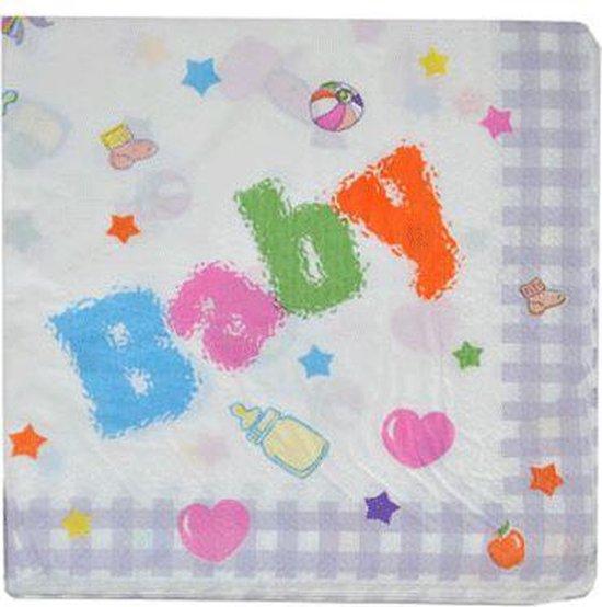 Babyshower versiering pakket blauw/roze