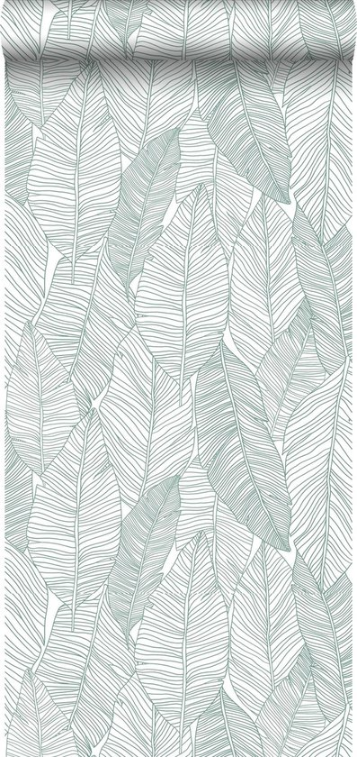 ESTAhome behangpapier getekende bladeren groen - 139010