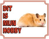 Waakbord Hamster - 20 cm x 25 cm