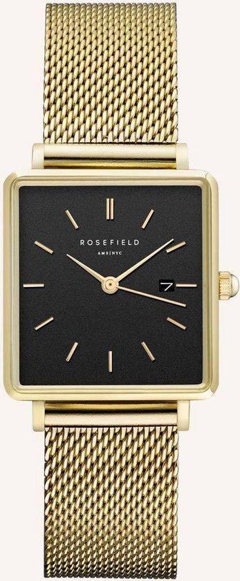 Rosefield The Boxy Dames Horloge - Goud Ø26 X 28mm - QBMG-Q06
