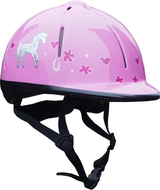 Red Horse Ruitercap Rider Meisjes Roze Maat Xs/s