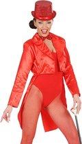 Satijnachtige rode slipjas voor vrouwen - Volwassenen kostuums