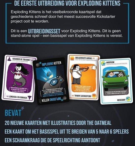 Bol Com Exploding Kittens Imploding Kittens Uitbreiding Nederlandstalig Kaartspel Games