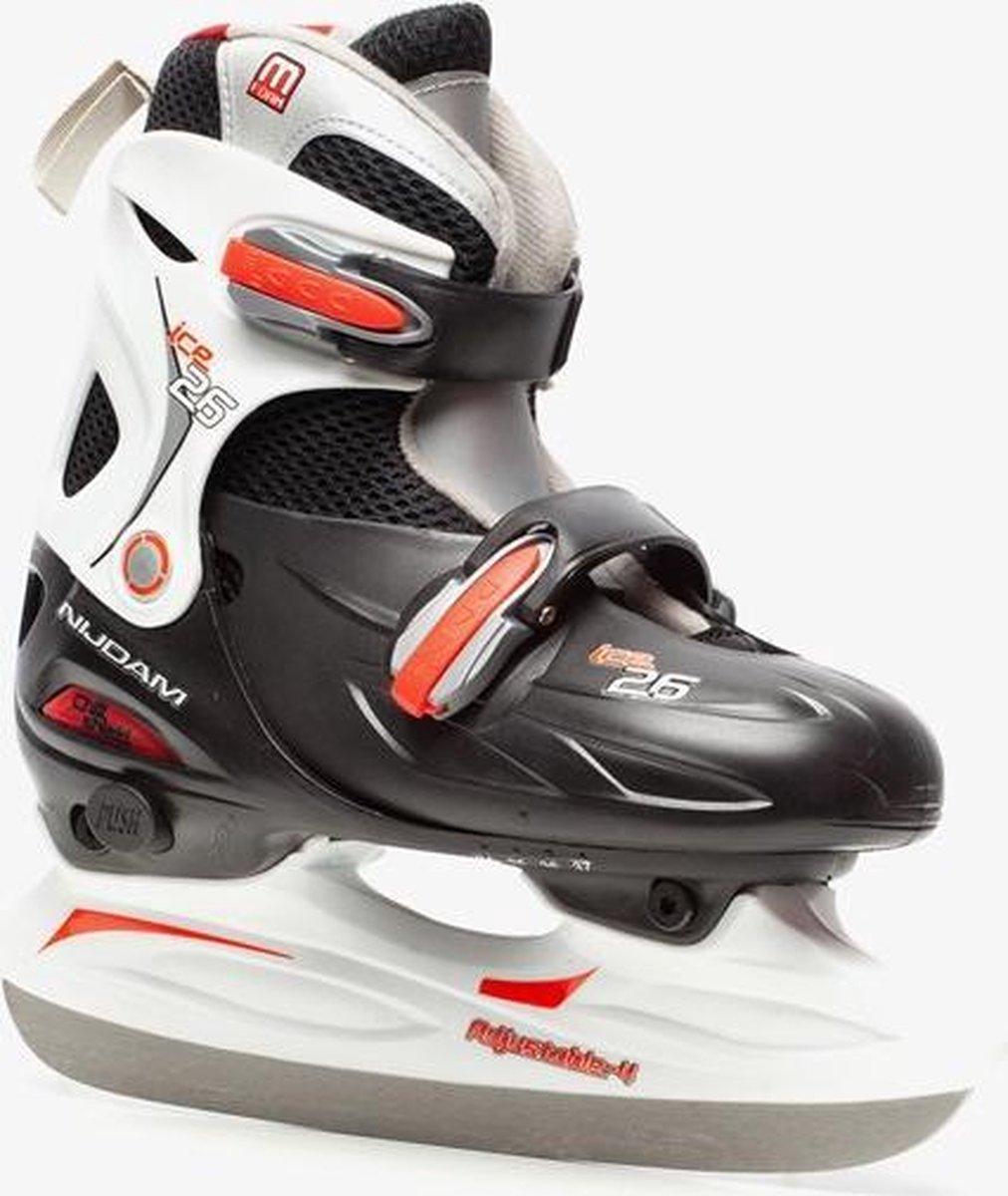 Nijdam verstelbare ijshockeyschaatsen - Zwart - Maat 38/41