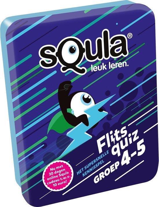 Thumbnail van een extra afbeelding van het spel Squla flitsquiz groep 4 5 - Kaartspel