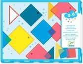 Djeco - Magische Stickers Vierkanten - 3-6j