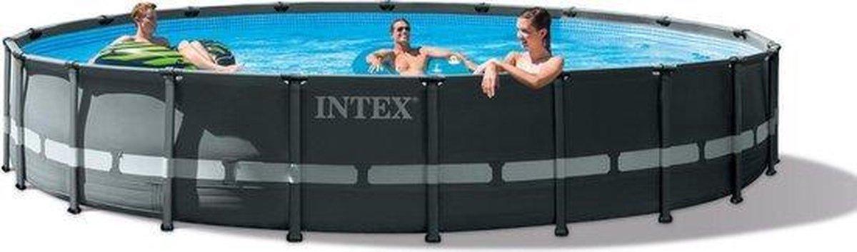 Intex Opzetzwembad - Ultra XTR Frame - 610 x 122 cm - Antraciet - Met accessoires