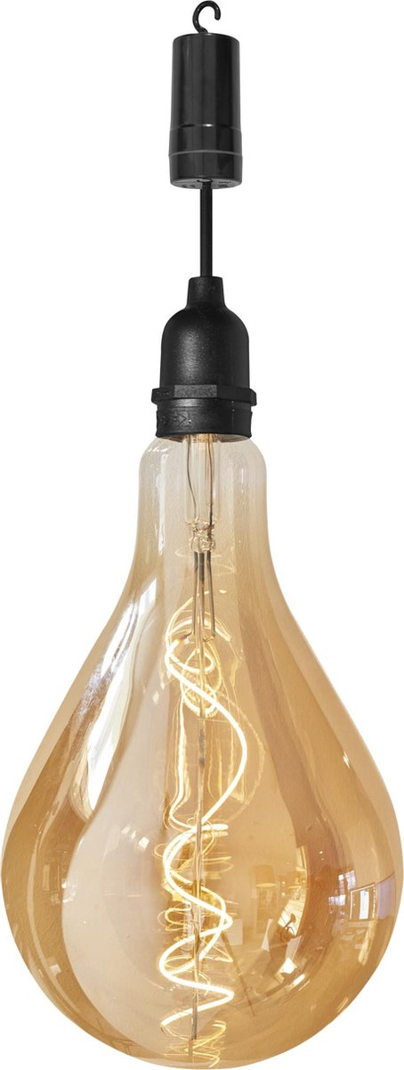 Luxform Lamp Ip44-raindrop 28,5 Cm Glas Zwart/transparant
