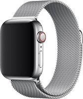 Milanees Geschikt voor Apple watch 38mm / 40mm RVS - Zilver - met een stevige magneetsluiting gemaakt van rvs