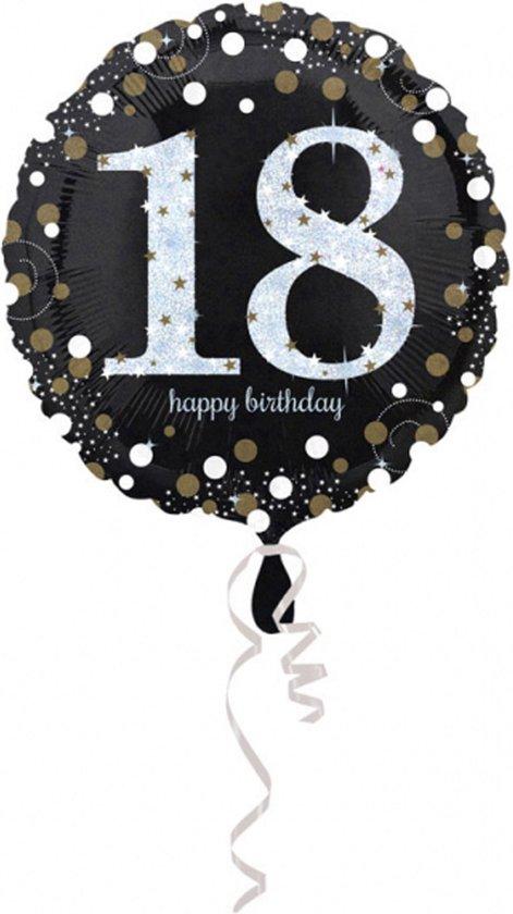 AMSCAN - 18 jaar Happy Birthday ballon - Decoratie > Ballonnen