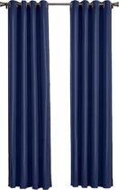 Larson - Luxe blackout gordijn met ringen – donkerblauw 1.5x2.5m – Verduisterend & kant en klaar – per stuk