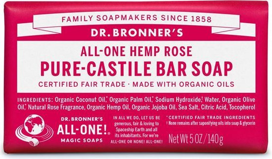 Dr Bronners Zeep rose