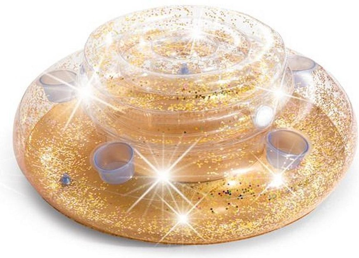 Intex 56810NP Mega Chill Opblaasbare Glitter Flessenhouder 33x74 cm Goud/Roze