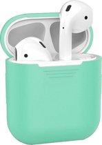 Siliconen Bescherm Hoesje Cover Hoes voor Apple AirPods 1 - Mint groen