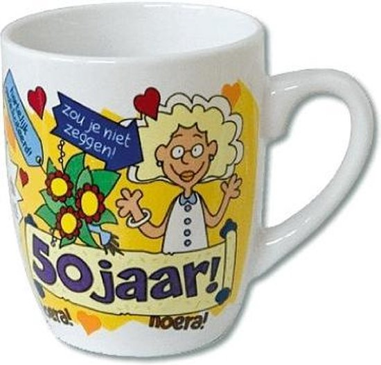 Cartoonmok 50 jaar vrouw - Sarah