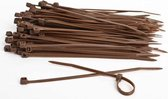 Kabelbinders 4,8 x 300 mm bruin   -  zak 100 stuks   -  Tiewraps   -  Binders