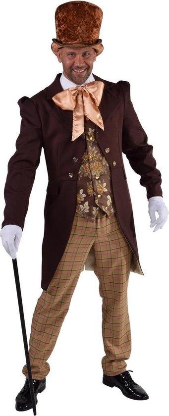 Steampunkt Victoriaans heer kostuum Luxe jasje, gillet en broek maat XL XXL (58 60)
