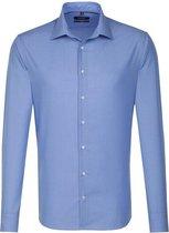 Seidensticker overhemd tailored fit blauw, maat 40